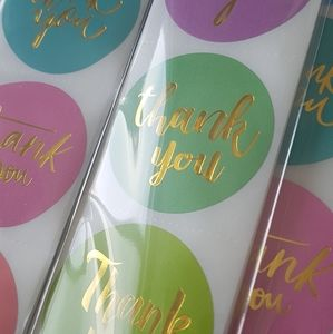 """NEW 100 Thank You Stickers 1.5"""" (8 NEW DESIGN)"""